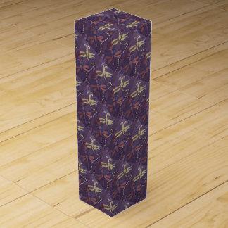 purple dragonfly wine box