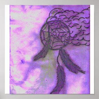 purple dream catcher poster