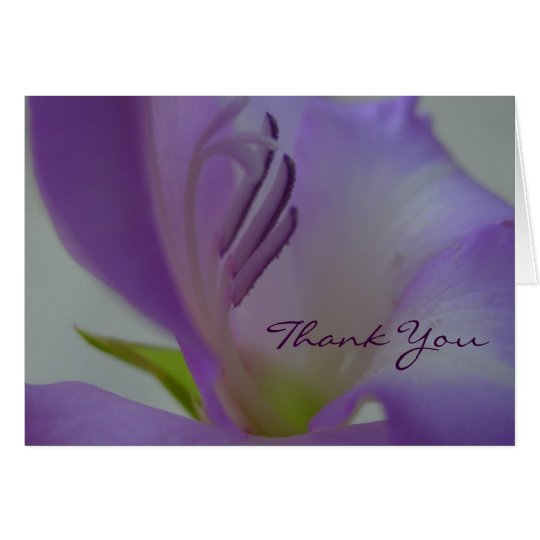 Purple Dream Flower ThankYou Card