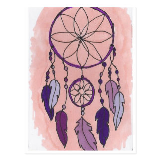 Purple Dreamcatcher Postcard