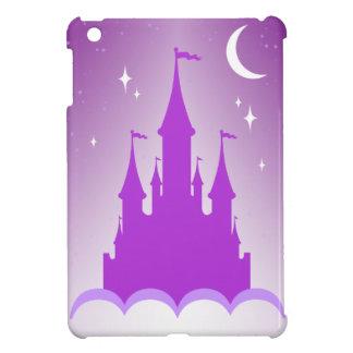 Purple Dreamy Castle In The Clouds Starry Moon Sky iPad Mini Cases