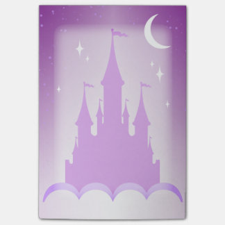 Purple Dreamy Castle In The Clouds Starry Moon Sky Post-it Notes