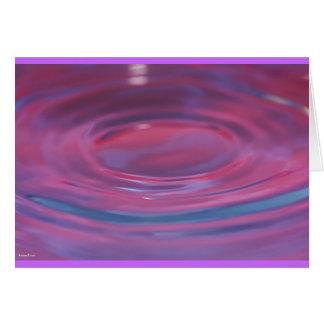 Purple drop puddle card