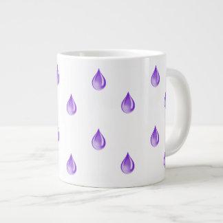 Purple Drops Large Coffee Mug