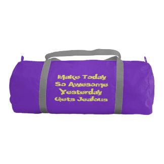 Purple Duffle Gym Bag