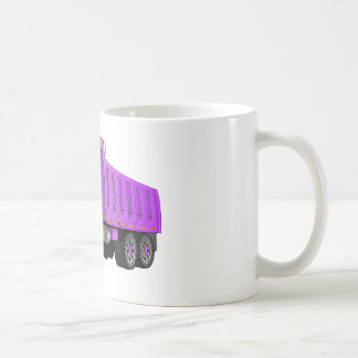 Purple Dump Truck Cartoon Mugs