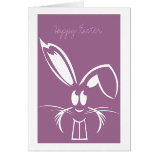 Purple Easter Bunny Easter Cards