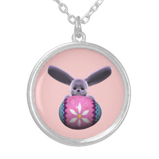 Purple Easter Bunny Necklaces