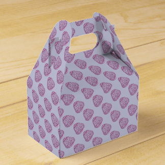 Purple Easter Egg with Pink Dots Favour Box