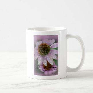 Purple echinacea Emerson Flower Quote gifts Coffee Mug