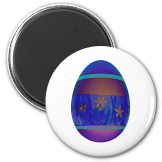 Purple Egg 6 Cm Round Magnet