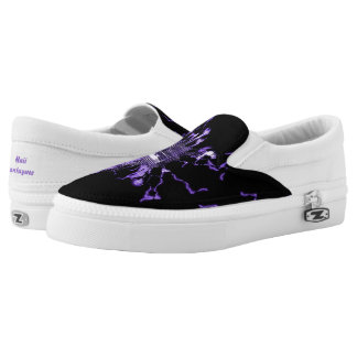 Purple Electric Slip-On Shoes