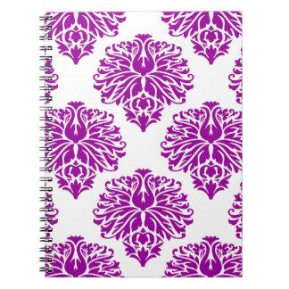 Purple Elegant Damask Notebook