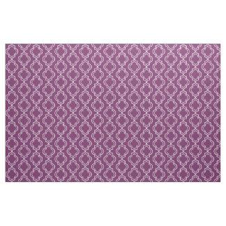 Purple Elegant Moroccan Trellis Pattern Fabric