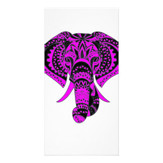 Purple Elephant Animal Picture Card