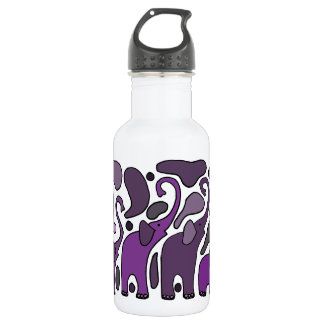 Purple Elephant Art Abstract 532 Ml Water Bottle