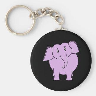 Purple Elephant. Cartoon Key Chain