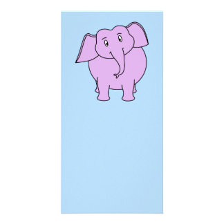 Purple Elephant. Cartoon Photo Cards