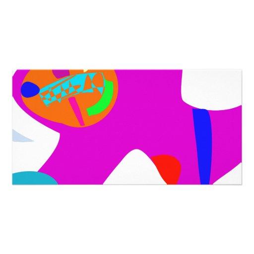 Purple Elephant Customized Photo Card