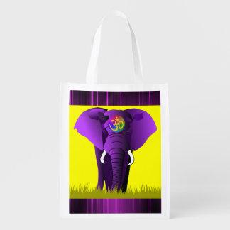 Purple Elephant reusable bag
