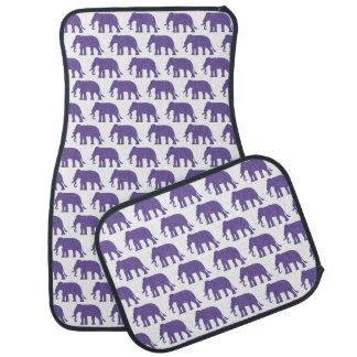 Purple elephants car mat