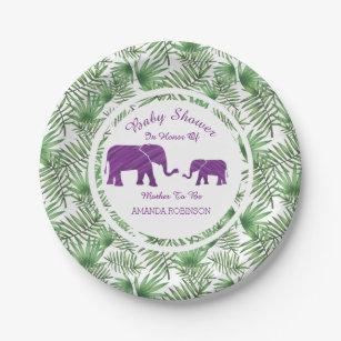 Purple Elephants Jungle Baby Shower Paper Plate  sc 1 st  Zazzle & Purple Elephant Plates | Zazzle.com.au