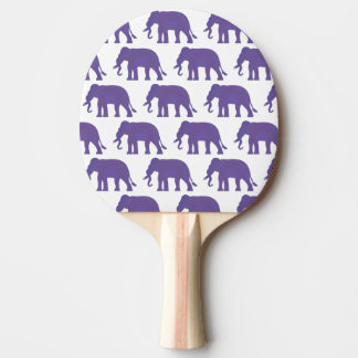 Purple elephants ping pong paddle