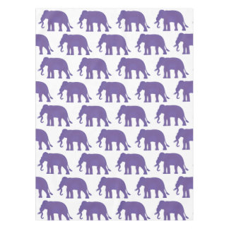 Purple elephants tablecloth