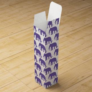 Purple elephants wine gift box