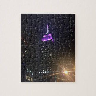 Purple Empire State Building NYC New York City Puzzle