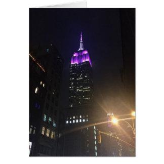 Purple Empire State Building NYC New York Night Card
