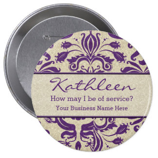Purple Employee Personalized Business Button