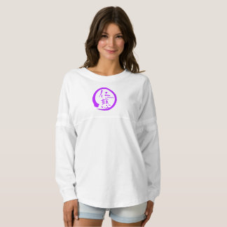 Purple enso zen circle • Kindness kanji Spirit Jersey
