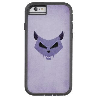 Purple Evil Cat Skull Protective Tough Xtreme iPhone 6 Case