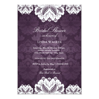 Purple Exotic flower | Bridal Shower Invitation