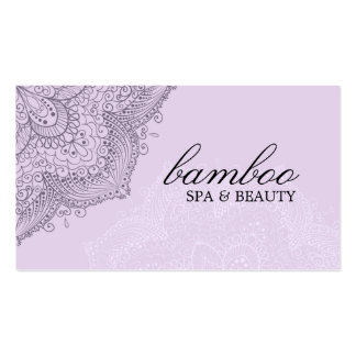 Purple Exotic Spa Business Card
