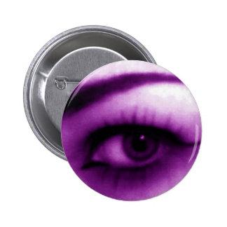 Purple Eye 6 Cm Round Badge