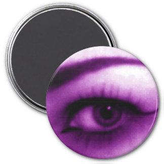 Purple Eye 7.5 Cm Round Magnet