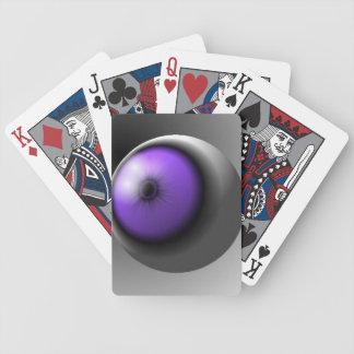 Purple Eye Ball Playing Cards