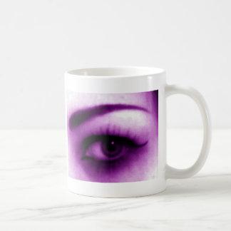 Purple Eye Basic White Mug