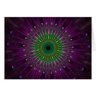 Purple Eye Fractal Greeting Card