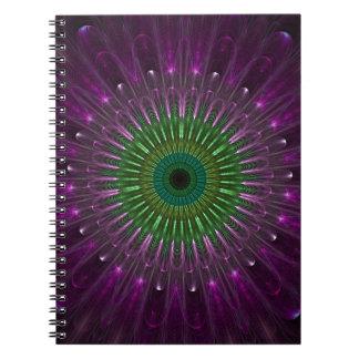 Purple Eye Fractal Note Books