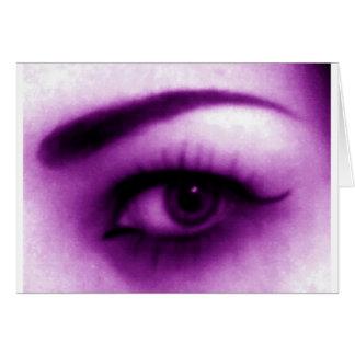 Purple Eye Greeting Card
