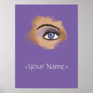 Purple Eye Makeup Poster