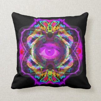 Purple eye of Saturn Cushion