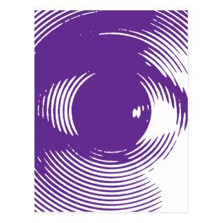 Purple eye postcard
