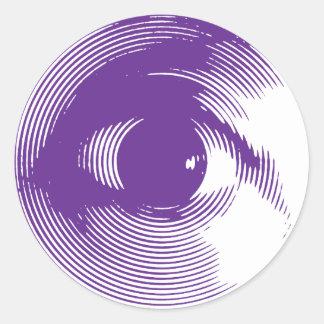 Purple eye round sticker