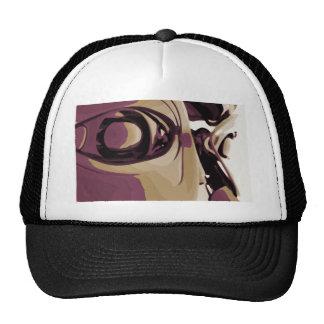 Purple Eyed Robot Mesh Hats