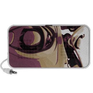 Purple Eyed Robot Mini Speakers
