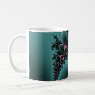 Purple Eyes Fractal Basic White Mug